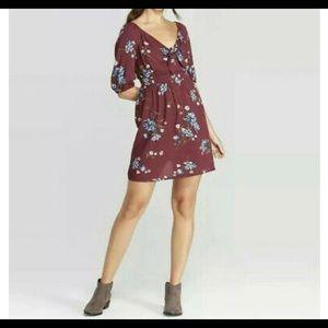 Xhilaration Plum Floral Dress, XS